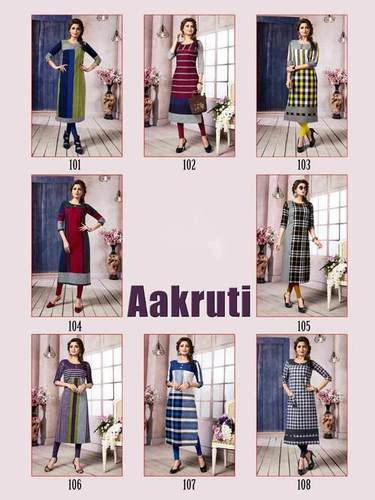 Aakruti Manas Cotton Printed Straight Cut Kurtis