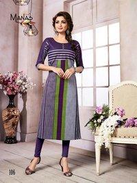 Aakruti Manas Cotton Printed Straight Cut Kurtis