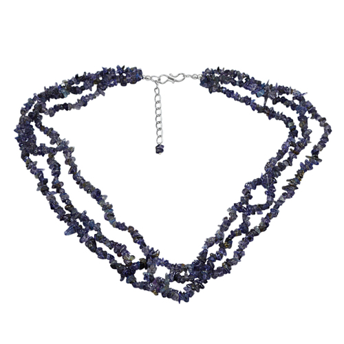 Iolite Gemstone Chips Necklace PG-131505