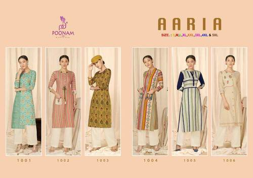 Aaria Poonam Designer Cotton Flex Kurti Catalogue