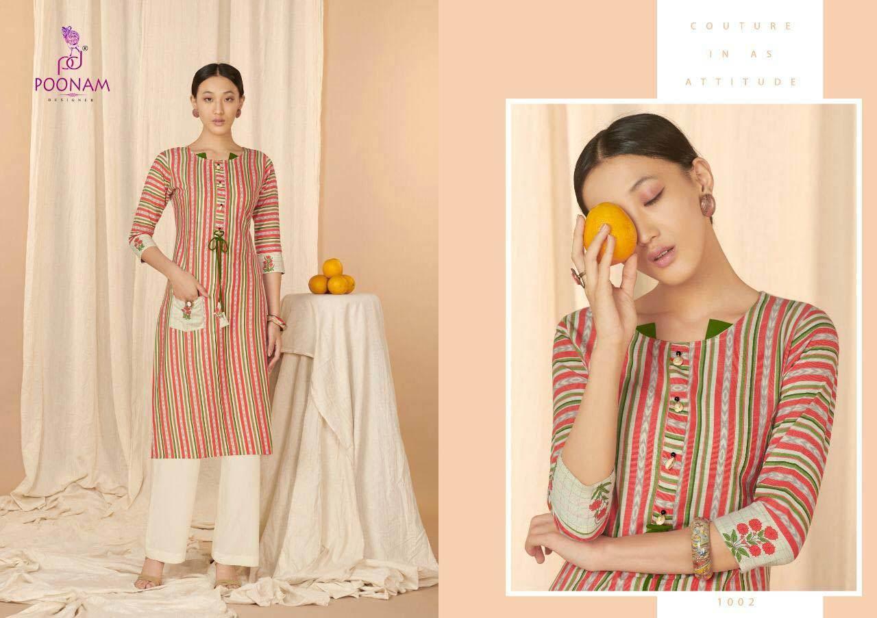 Aaria Poonam Designer Cotton Flex Kurti Catalogue