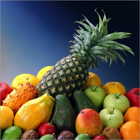 Fruit exotic pineapple apple avocado kiwi