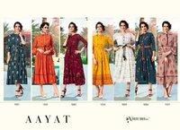 Aayat Rayon Print Wholesale Kurti