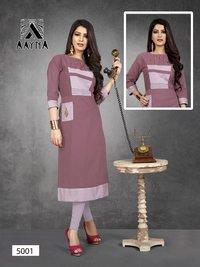 Aayna Vol-5 Aayna Cotton Flex Plain Kurti