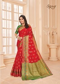 Beautiful Lichi Silk Saree