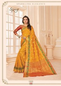 Beautiful Mustard Silk Saree