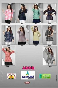 Ador Vol-2 Aliksha Dresses is Rayon Ladies Top for Wholesaler