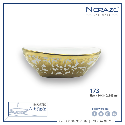 Golden Hand craft Wash Basin