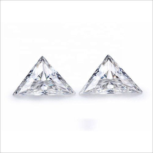 Triangle Cut Loose moissanite Stone
