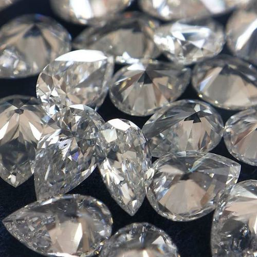 Loose Diamond VS1 Purity 0.05 TO 0.10 Carat E F Color Lab Grown Polished Loose White Pear Diamond