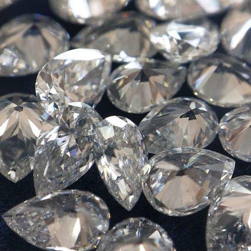 Loose Diamond VS1 Purity 0.05 TO 0.10 Carat E F Color Lab Grown Polished Loose White Pear Diamond