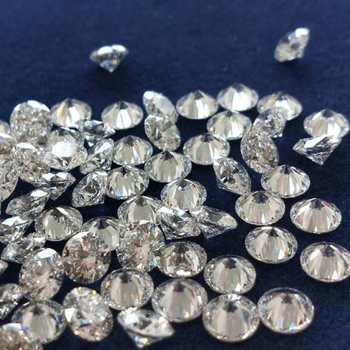 Diamond Cut E F White VS1 Clarity 1.3-1.7 mm 1.0 points to 2.0 points Lab-Grown CVD/HPHT