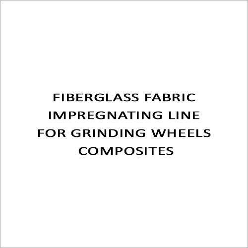 Fiberglass Fabric Impregnating Line For Grinding Wheels Composites
