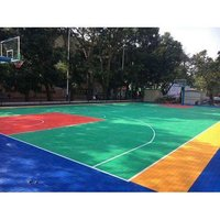 Modular Basketball Court Interlocking Outdoor Sports Flooring