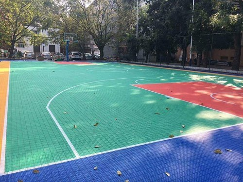 PP Interlocking Tile for Basketball Court