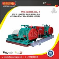 Double mill sugarcane crusher for jaggery making machinery