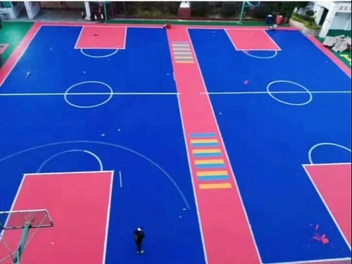 PP Synthetic Interlocking Outdoor Portable Sports Flooring Removable Basketball Court