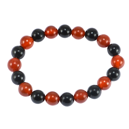 Black & Red Onyx Bead Bracelet PG-156001