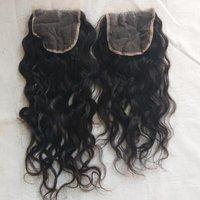 Raw Wavy Human  Hair Closure