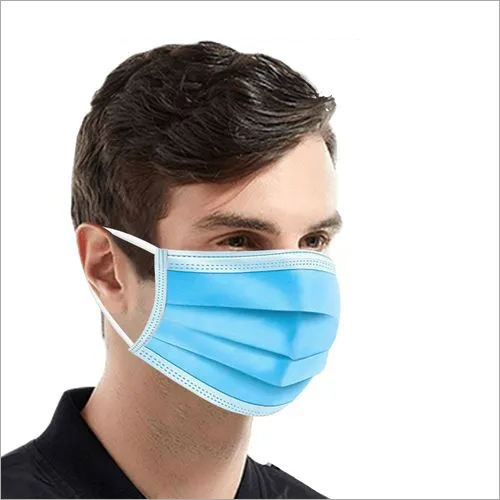 3 Ply Non Woven Mask With Pure Melt Blown Filter With Nose Pin