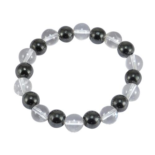 Hematite & Crystal Quartz Stone Bracelet PG-156004