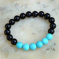Turquoise & Black Onyx Stone Bracelet PG-156006