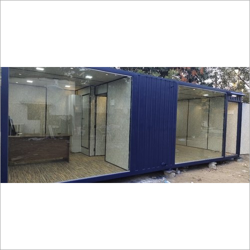 Prefabricated Site Office Cabin With Glass