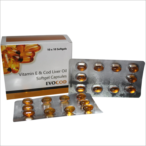 Vitamin E And Cod Liver Oil Softgel Capsules