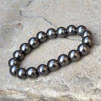 Hematite Gemstone Beaded Bracelet PG-156011