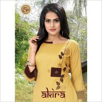 Akira GSM Namo Slub Straight Cut Kurti in Wholesale