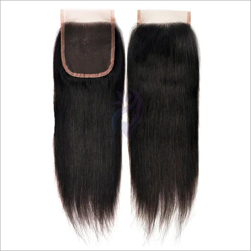 Hairkartt 4 x 4 Swiss Lace Closure Straight  (Natural Black)