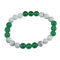 Howlite & Green Crystal Bracelet PG-156014