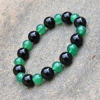 Green Crystal & Black Onyx Stone Bracelet PG-156015