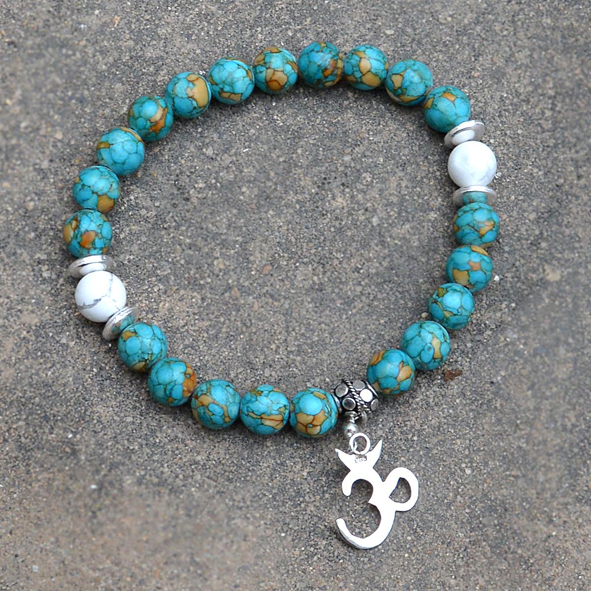 Turquoise & Howlite Gemstone Bracelet PG-156018