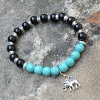 Turquoise & Black Onyx Stone Bracelet PG-156019
