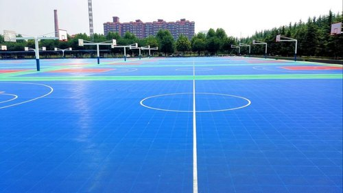 Outdoor Professional Basketball PP Interlocking Sports Floor