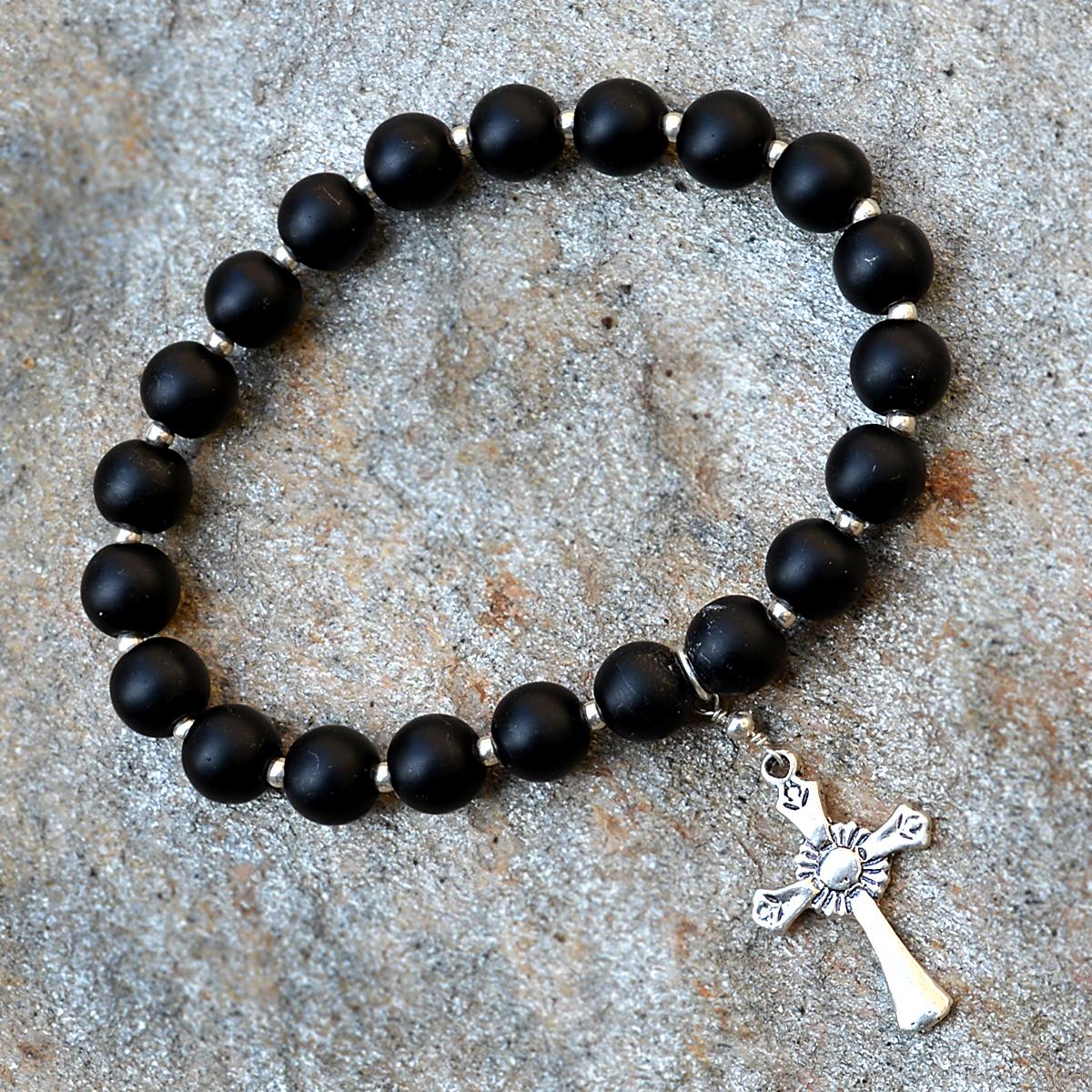 Matte Onyx Gemstone Bracelet PG-156021