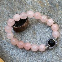 Rose Quartz & Black Onyx Stone Bracelet PG-156022