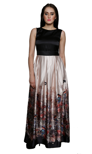 Digital Print Party Dress