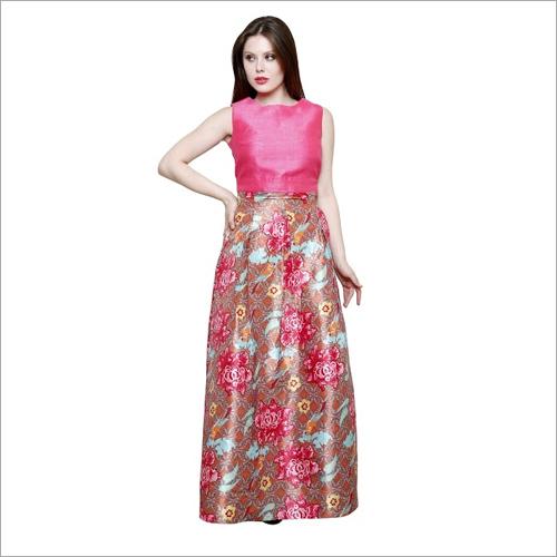 Bhagal Puri Silk Long Dress