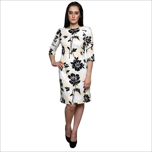 A Line Printed Dress