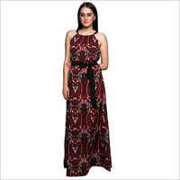 Multi Print Long Dress