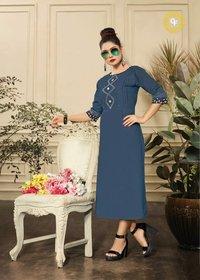Akshara Gopinath Fashion Slit Plain Kurti