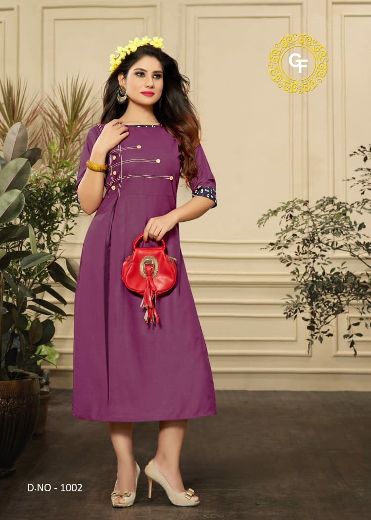 Akshara Gopinath Fashion Slit Plain Kurti