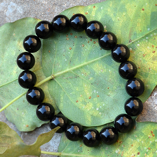 Black Onyx Gemstone Beaded Bracelet PG-156024