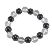 Hematite & Crystal Quartz Gemstone Bracelet PG-156025