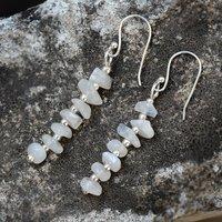 Rainbow Moonstone Silver Earring PG-156028