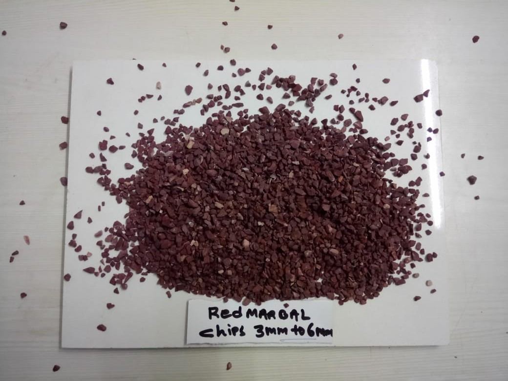 High Hardness Red Granite Flooring Marble Crushed and Wash Gravels Chips Aggregate