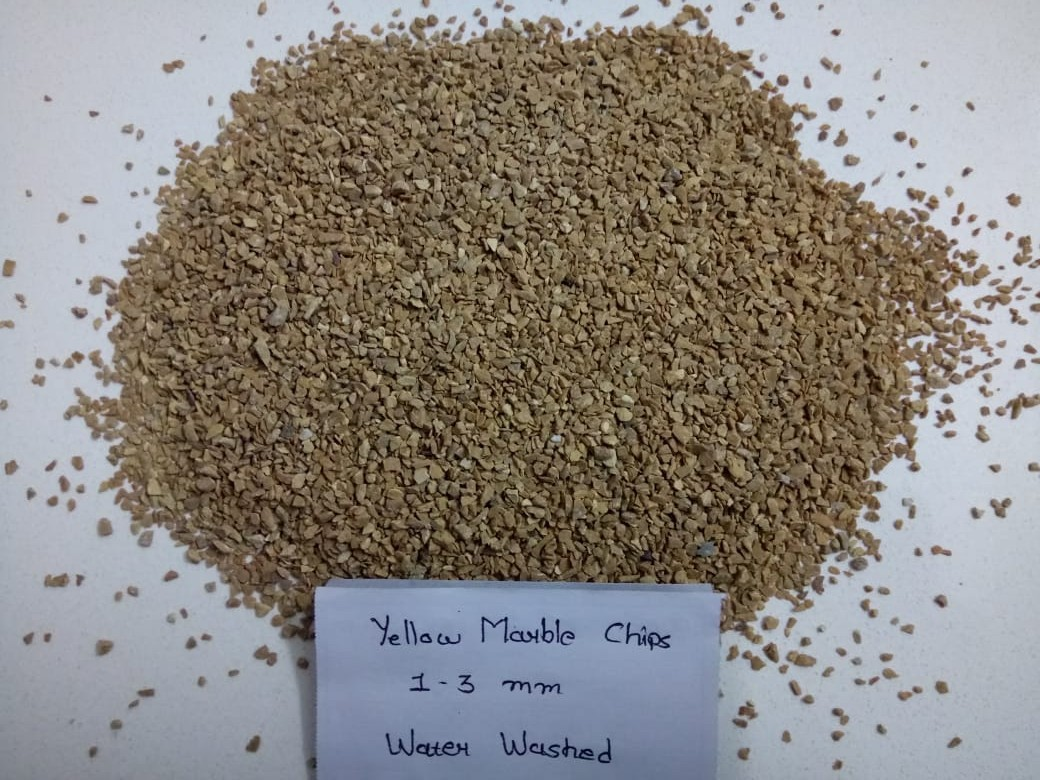 3mm to 6mm Yellow Marbal Chips