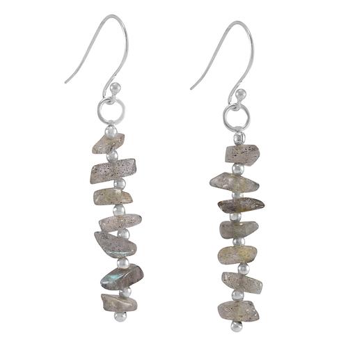 Labradorite Gemstone Silver Earring PG-156037